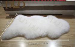 Weiße Pelz-Wolldecken