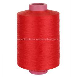 Hand Kitting, Weaving를 위한 100%년 폴리에스테 Dope Dyed DTY Yarn (75D/36f SD Nim)