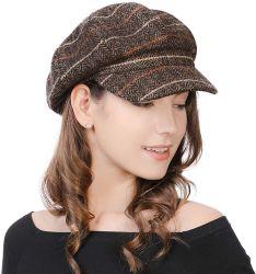 제조업체 브라운 양모 여성용 클래식 프렌치 베레 모자 스타일리시한 아티스트 뉴스 보이 캡스 IVY 모자