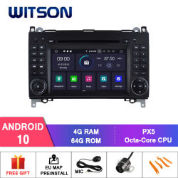 Wittson 8-Core Android 10 for Mercedes-Benz A Class (W169) (2005-2011) /B Class (W245) (2009-2011) /Viano/Vito/Sprinter، V-Class (2010-2011) خرج فيديو كامل