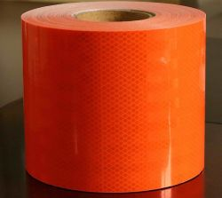 Leuchtstoff orange Rot-reflektierendes Augenfälligkeit-Band