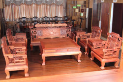 Nez de l'éléphant de style classique 10définit la Birmanie Padauk canapé en coupe