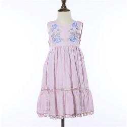 Оптовая торговля моды Style Kid ветошью девочек вышивкой платья красоту девушки платья