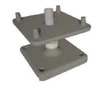 Pés ajustáveis de zinco para Exibição de exposições fase piso (GC-FS001)