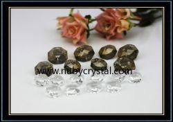 Abalorios de cristal Octógono bilateral para la araña de cristal 2 orificios (NU-DS7510)