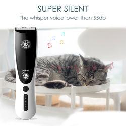 2020 novas pilhas recarregáveis Eletrônico Cortador Pet Cão Clippers Aparador de cabelo grooming