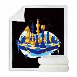 Comment jouer aux échecs Impression 3D Ensemble de literie Blanket Textile