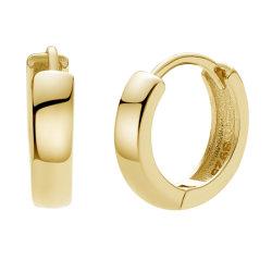 Nagosa Fashion Ealminist 925 Sterling Silver Jewellery 18K Gold 베르메일 허기스 Bold Hoop Ering