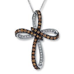 Color Gemstone jóias 925 Pingentes Silver Cross revestimento preto