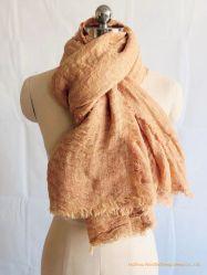 Mode katoen linnen mengsel sjaal Natuur krinkle sjaal /Poncho/Ruana