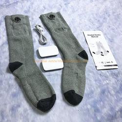 Chauffage électrique thermique Batterie 3,7 V Socks Chaussettes chauffants électriques pied d'hiver plus chaud 3,7 V Batterie rechargeable pour Hommes Femmes froid aux pieds de la chasse Camping Ski