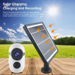 Smart Home Security Vigilância da bateria Câmera WiFi com painel solar