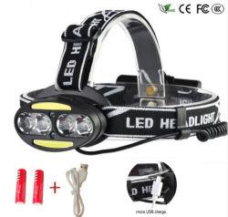 30000 Lumen Xm-4* L T6 +2*s/n+2*Red Lanterna Projecteur Rechargeable USB 8 LED