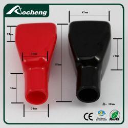 Tampa do borne da bateria de PVC com preto vermelho