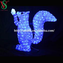 Décoration de Noël de plein air à LED feux (écureuil) acrylique
