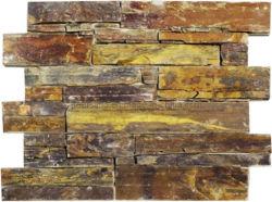 Revestimiento de pared de cuarcita de piedra natural el arte de la cultura