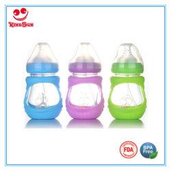 공급 아기 7ounce를 위한 실리콘 소매 또는 덮개 유리 병