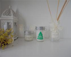 Vela frascos de vidrio con tapa de la jarra de cristal de gran tamaño// Las Velas Perfumadas velas