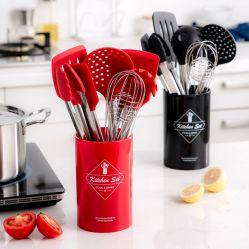 Herramientas de Cocina con caja de almacenamiento útiles de cocina