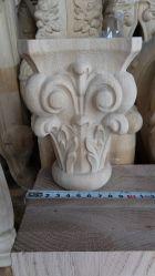 Het gesneden Stevige Houten Kapitaal van Acanthus van de Open haard