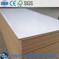 White Shine MDF E0 Normes d'émissions de formaldéhyde MDF contreplaqué pour dessus de table