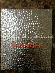 Couleur aluminium/aluminium gaufré de stuc recouvert de feuille pour décorer