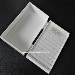 Acrílico personalizado de la bandeja de extensión de pestañas de color blanco