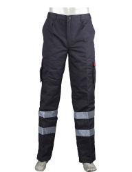 Vestuário de malha Multi-Pocket confortáveis calças de trabalho com a fita refletora