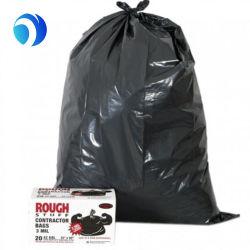 Venda por grosso de HDPE PE LDPE Cozinha Pesado Preta PE Grabge Saco Plástico de lixo