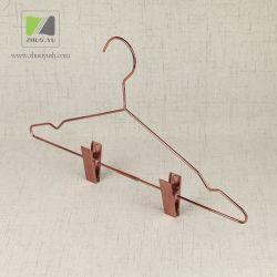 Porte-Vêtement en Métal d'Or Rosé Adaptée aux Besoins du Client / Cintre de Tissu / Vêtements avec des Agrafes
