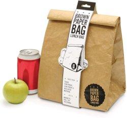 Bolsa de almuerzo de papel aislante térmico Impermeable contenedor reutilizable de alimentos