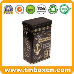 Custom кофе Тин коробки с пластмассовой герметичной крышки багажника, Кофе Тин с механизмом, металлической Тин, контейнер для кофе упаковка