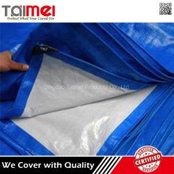 Tessuto resistente della tela incatramata del PE colore bianco/blu