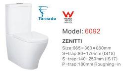 Venta de marca de agua caliente estándar australiano Inodoro (Wc de dos piezas de cerámica