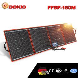 تأتي مجموعة اللوحة الشمسية المرنة القابلة للطي بقدرة 160 واط بقدرة 18 فولت مع 12 فولت 10 أمبير وحدة التحكم في الشحن