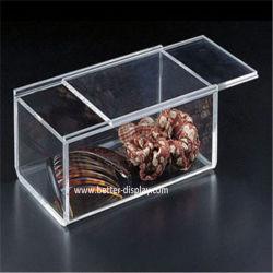 Effacer le plastique acrylique carré boîte avec couvercle