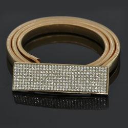여자 복장 금 & 톱니 바퀴용 체인 Feminino 은 형식을%s 탄력 있는 금속 톱니 바퀴용 체인 5 줄 모조 다이아몬드 호화스러운 벨트