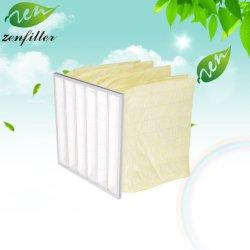工場でカスタマイズされた産業用ポケットエアフィルタマテリアル合成繊維 エアコンセカンダリ