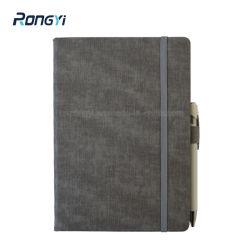 2020 A5 de Agenda van de Rand van de Druk van het Notitieboekje van het Leer van Pu met Elastiekje 80 GSM Document van Kantoorbehoeften Rongyi