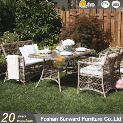 현대 최신 판매 홈 휴양지 호텔 대중음식점 고리 버들 세공 등나무 실내와 옥외 식사 의자 가구