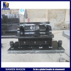 Nouveau design de style américain banc commémoratifs de granit noir