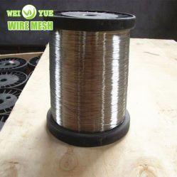 Ultrafino 316L 0,035 mm em aço inoxidável anelada luminosos da tecelagem de fios usados para luvas resistentes ao corte
