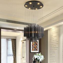 Nuove lampade Pendant di cristallo fumose rotonde dei lampadari a bracci per sala da pranzo