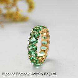 Design atraente 14K Ouro Sólido 925 Prata Anel de eternidade Jóias/jóias de ouro/Anillo De Dama/Anel de Nossa Senhora
