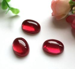 Dos plat forme ovale Ruby 5# Cabochon corindon Stone/Ruby 5#