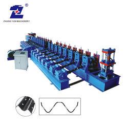 Gran material de construcción personalizado Newautomatic Expressway Fence Protección dos olas de frío Metal de guías de la carretera rodante rollo/máquina de formación