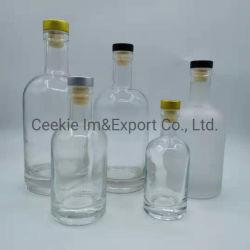 Bouteille de vin en verre dépoli clair liquide Flacon en verre bouteille de vodka à la verrerie Ustensiles de cuisine