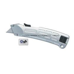 Couteau de sécurité Auto-Retractable couteau utilitaire avec poignée en aluminium (WW-UK1577)