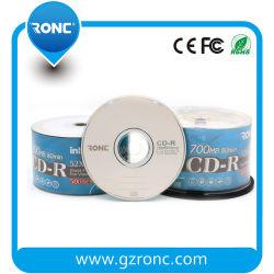 15 ans d'usine de disque CD-R vierge 1-52X/700Mo/80min avec l'argent brillant