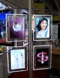 """Tenture murale double écran LCD 21,5"""" de la fenêtre Affichage de signalisation numérique pour les magasins"""